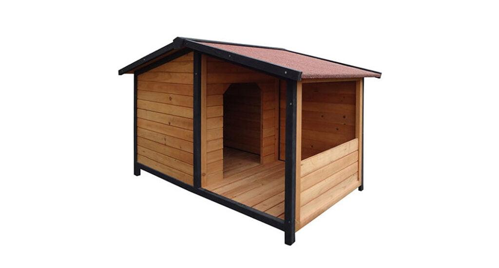 caseta de madera para perros tk pet rocky con patio