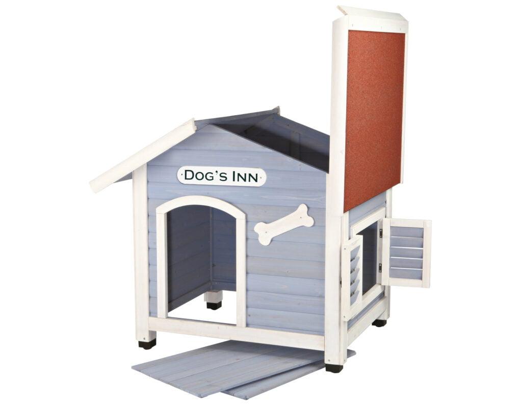caseta para perros de techo removible
