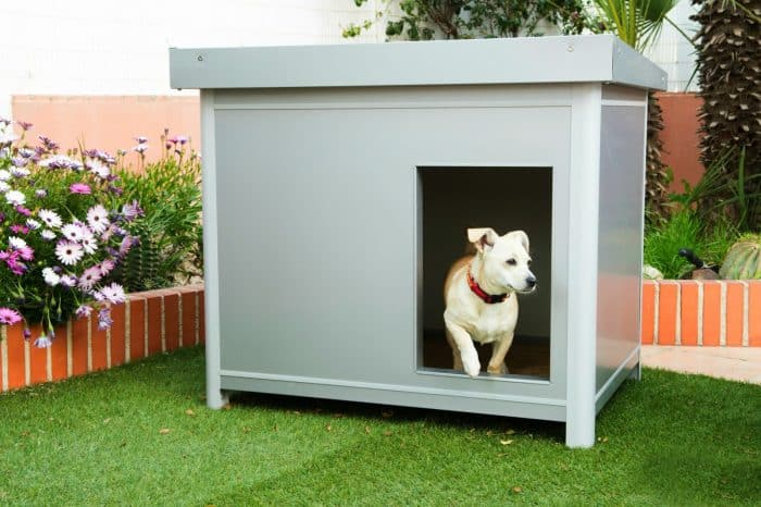 casetas de metal para perros