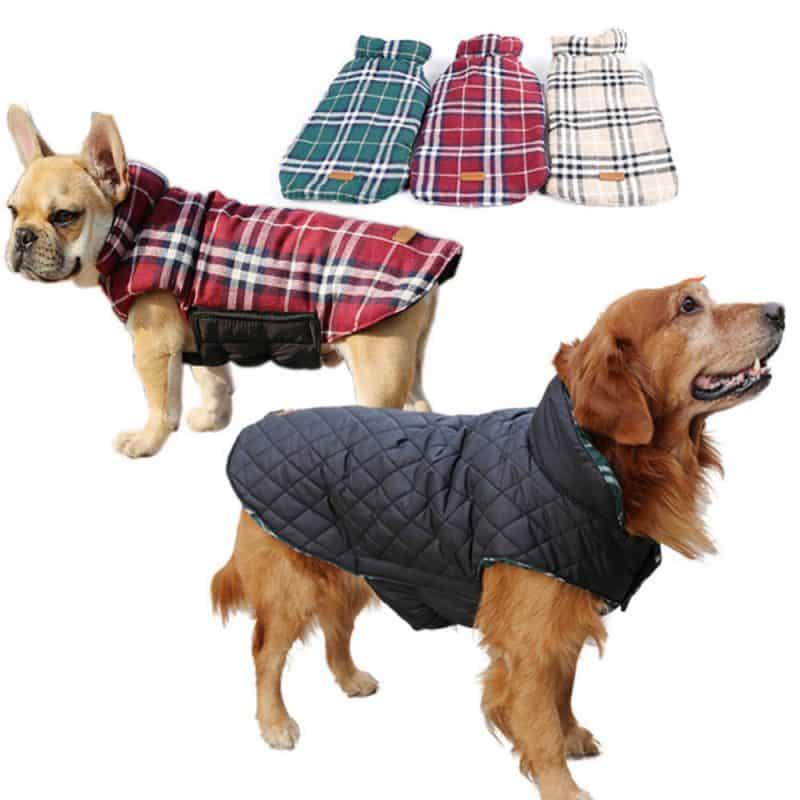 abrigos reversibles con y sin mangas para perros