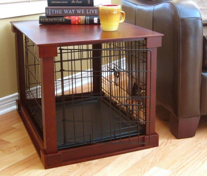 jaulas para perros de madera y metal